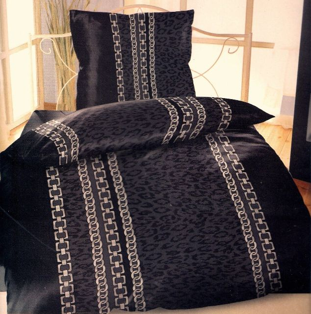 bettw sche 4 teilig set sparset leopard kette micro biber 135 x 200 cm bi nw 4 ebay. Black Bedroom Furniture Sets. Home Design Ideas