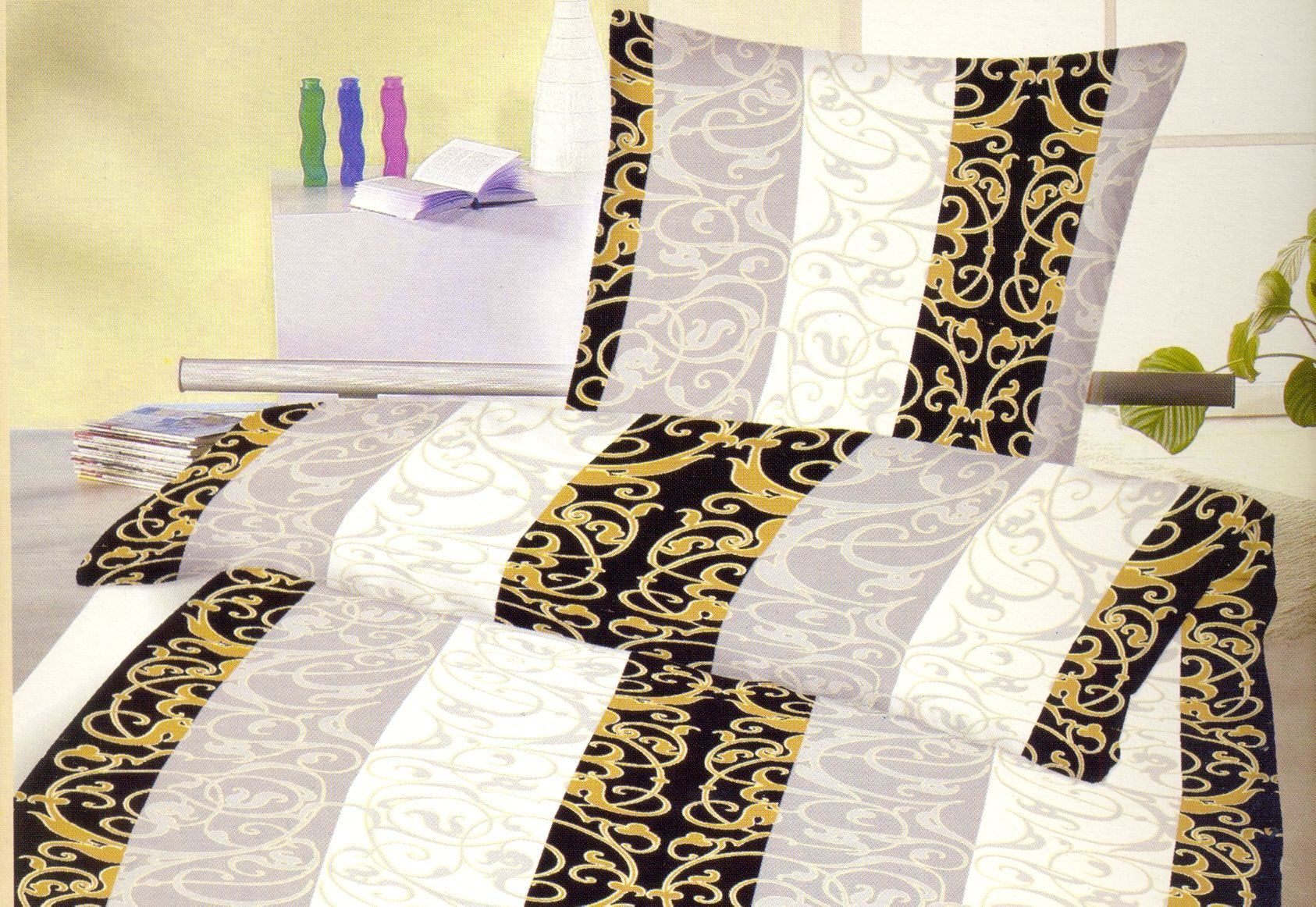 bettw sche 155x200 microfaser garnitur set bezug 2 teilig 4 teilig w hlbar neu. Black Bedroom Furniture Sets. Home Design Ideas