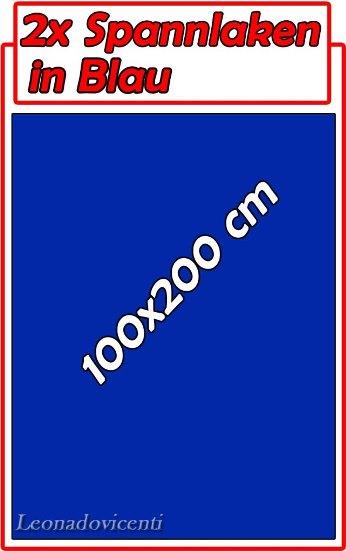 2 st ck spannbettlaken spannbetttuch microfaser blau 90 100cm x 190 200cm ebay. Black Bedroom Furniture Sets. Home Design Ideas